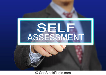 Self Assessment - Business concept image of a businessman ...