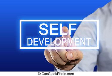 Self Development - Business concept image of a businessman ...
