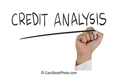 Credit Analysis - Business concept image of a hand holding...