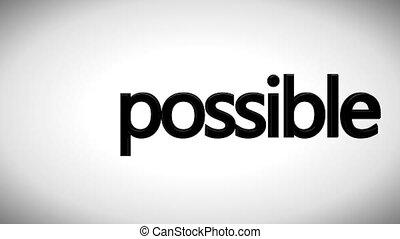 Business concept. Impossible concept - Success concept, ...