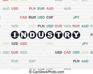 Business concept: Industry on wall background