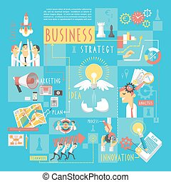 Business concept infographic elements poster - Startup...