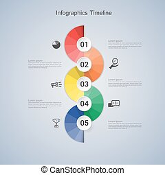Business concept infographic step to successful. vector illustration