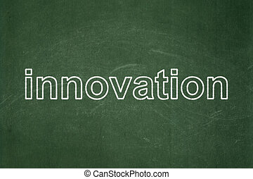 Business concept: Innovation on chalkboard background