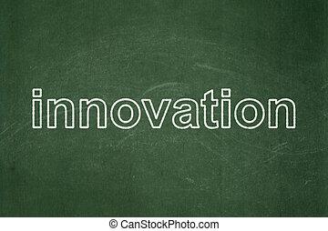 Business concept: Innovation on chalkboard background