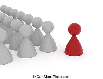 Leadership business concept  3d rendering