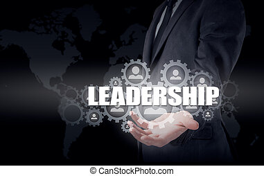 Business concept leadership and personnel management.
