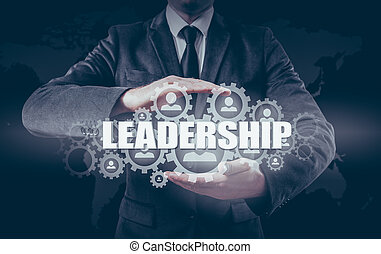 Business concept leadership and personnel management