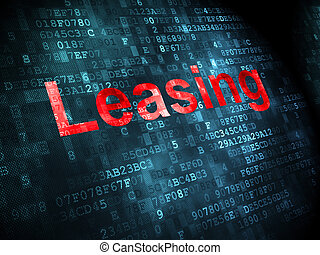 Business concept: Leasing on digital background