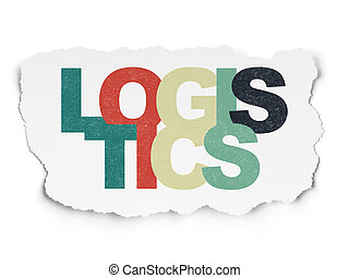 Business concept: Logistics on Torn Paper background