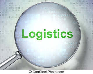 Business concept: Logistics with optical glass