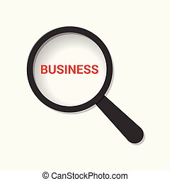 Business Concept: Magnifying Optical Glass With Words Business