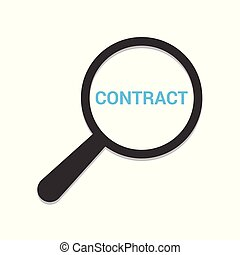 Business Concept: Magnifying Optical Glass With Words Contract