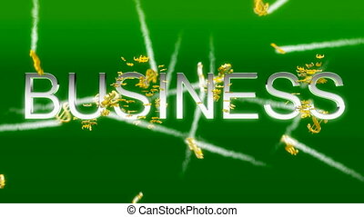 Business concept - making money (US dollars)
