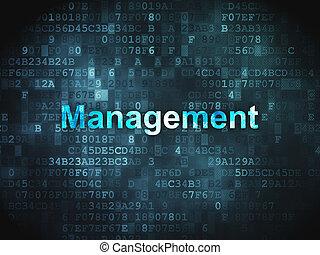 Business concept: Management on digital background