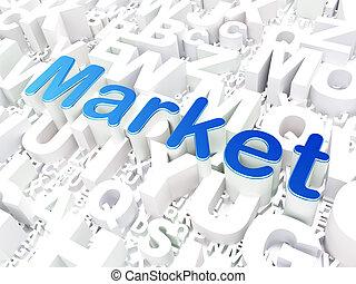 Business concept: Market on alphabet background