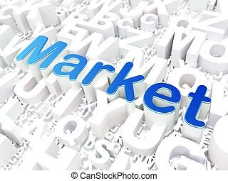 Business concept: Market on alphabet background