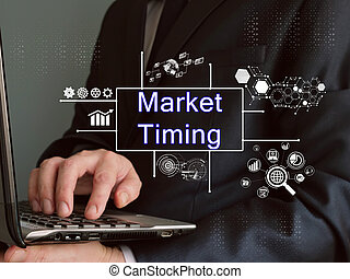 Business concept meaning Market Timing with inscription on the sheet.