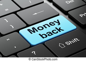 Business concept: Money Back on computer keyboard background