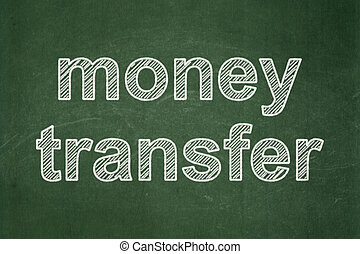 Business concept: Money Transfer on chalkboard background