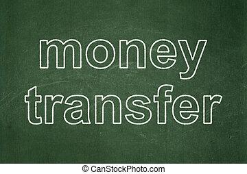 Business concept: Money Transfer on chalkboard background -...