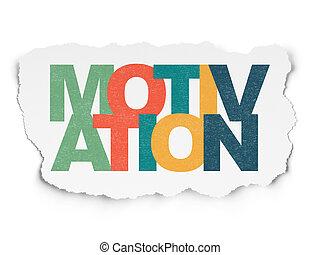 Business concept: Motivation on Torn Paper background