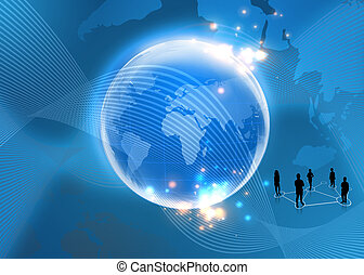 business Concept of global