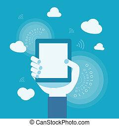 business concept of internet cloud