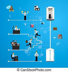 Business concept of teamwork - Vector illustration of...