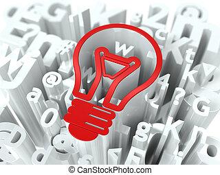 Business Concept on Alphabet Background.