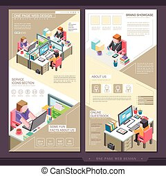 business concept one page website template design