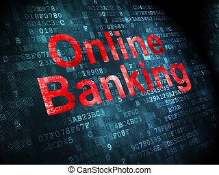 Business concept: Online Banking on digital background