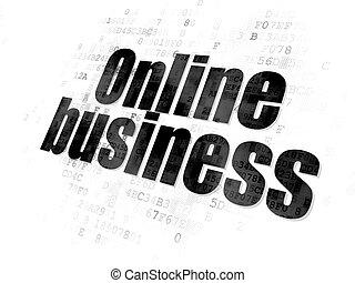 Business concept: Online Business on Digital background