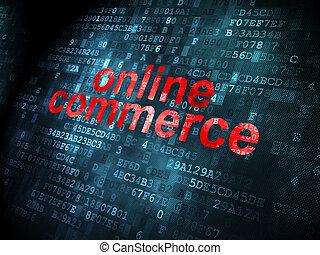 Business concept: Online Commerce on digital background