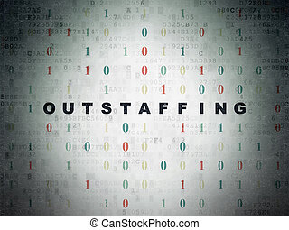 Business concept: Outstaffing on Digital Paper background
