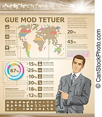 Business Concept Page Beige - Idea infographic web page. ...