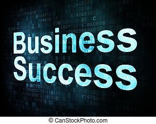 Business concept: pixelated words Business Success on digital screen, 3d render