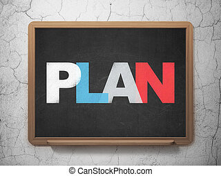 Business concept: Plan on School board background