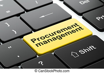 Business concept: Procurement Management on keyboard -...