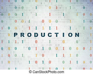 Business concept: Production on Digital Data Paper background