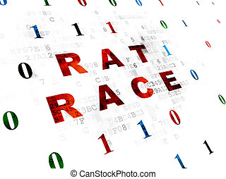 Business concept: Rat Race on Digital background