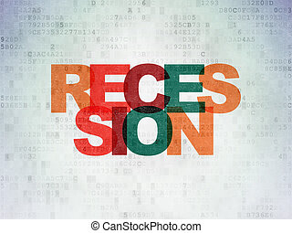 Business concept: Recession on Digital Paper background