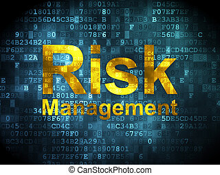 Business concept: Risk Management on digital background -...