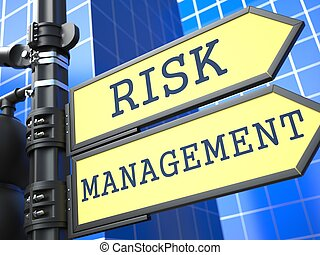 Business Concept. Risk Management Roadsign.