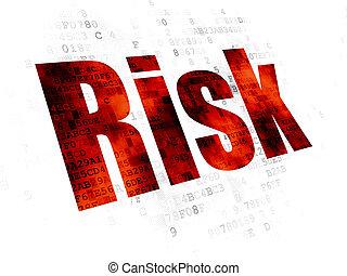 Business concept: Risk on Digital background