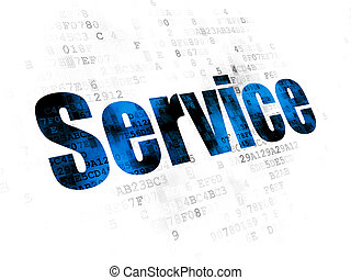 Business concept: Service on Digital background