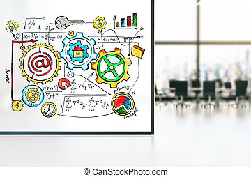 Business concept sketch interior