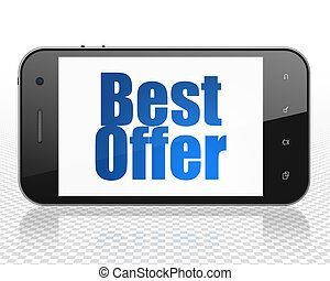 Business concept: Smartphone with Best Offer on display