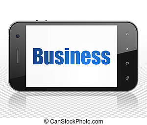 Business concept: Smartphone with Business on display