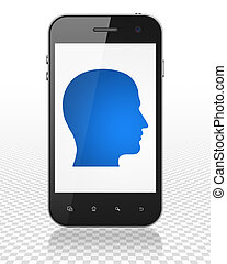 Business concept: Smartphone with Head on display